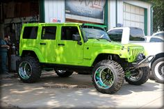 Bright Green Maxxed Performance Jeep Re-Pinned by JeepDreams.com