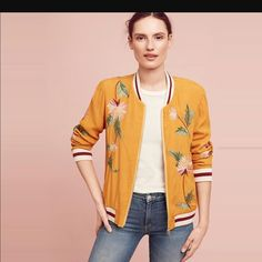 Anthropologie Embroidered Jacket
