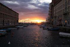 Coucher de soleil sur le Canal Grande de Trieste © L'Oeil d'Édouard