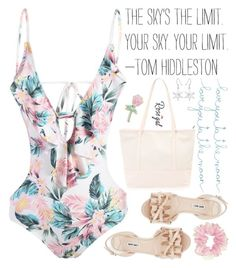 """""""patiently waiting for summertime 🙇🏼 ♀️💭🌞👙🌸"""" by exco ❤ liked on Polyvore featuring Miu Miu, Natural Life, Big Bud Press, clean, organized and rosegal"""