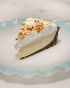 A gingersnap crust gives this mouthwatering butterscotch cream pie its unforgettable flavor.