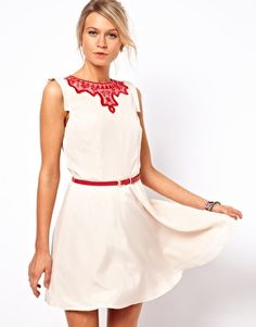 Loving this embroidered dress!