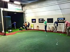 Indoor Golf Teaching Facility, The Golf Practice, Highland Park, Designed  And Installed By