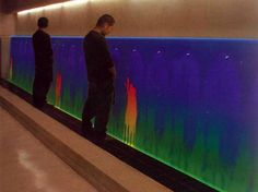 Thermochromic urinals.