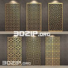 models: Other decorative objects - Decorative Wall pattern Living Room Partition Design, Room Partition Designs, Wall Art Designs, Decorative Metal Screen, Decorative Panels, Decorative Objects, Metal Wall Decor, Metal Wall Art, Jaali Design