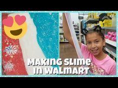MAKING SLIME IN WALMART - YouTube