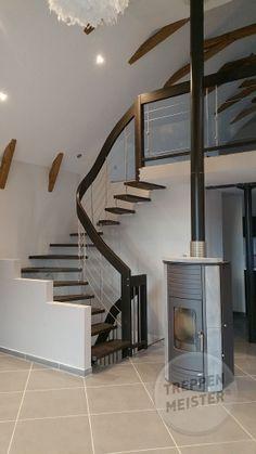 #escalier suspendu en bois système Treppenmeister #madeinfrance