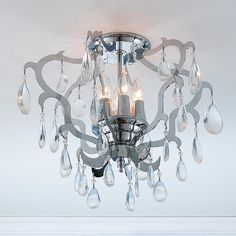 Shop Worldwide Lighting Henna Crystal Semi Flush Ceiling Light at Lowe's Canada. Find our selection of flush mount lighting at the lowest price guaranteed with price match. Ceiling Light Shades, Crystal Ceiling Light, Semi Flush Ceiling Lights, Flush Mount Lighting, Flush Mount Ceiling, Crystal Lamps, Clear Light Bulbs, Light Bulb Types, Modern Art Deco
