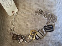 Vintage Belt Buckles and Shoe Buckles recycled into a fabulous necklace!