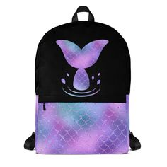 Mermaid Backpack - Back to school accessories - Mermaid Tail Laptop bag by BrandiesDesignShop on Etsy Pusheen Backpack, Frozen Headband, Back To School Backpacks, School Accessories, Laptop Bag, School Supplies, Fashion Backpack, Mermaid, Unicorn