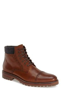 Free shipping and returns on J&M 1850 'Karnes' Cap Toe Boot (Men) at Nordstrom.com. A sturdy lug sole grounds a full-grain leather boot finished with an all-around welt and a touch of broguing.