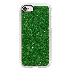 Green Crystals - iPhone 7 Case, iPhone 7 Plus Case, iPhone 7 Cover,... (110 QAR) ❤ liked on Polyvore featuring accessories, tech accessories and iphone case