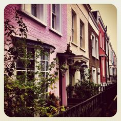 Colorful buildings of Notting Hill :-)