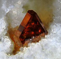 Sphalerite crystal on Dolomite matrix / Mineral Friends <3
