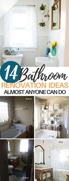 These 14 Bathroom Transformations Will Help You Create the Perfect DIY Design! If you love renovations or HGTV, you are going to fall in love with these before and after photos! #bathroom #homedecor #homeimprovement #beforeandafter #renovation #diy #projects