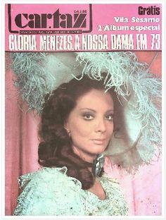 REVISTA CARTAZ - 1973 - NA CAPA A ATRIZ GLORIA MENEZES - vestida como a DAMA DAS CAMÉLIAS - especial produzido pela Rede globo - adaptação de Gilberto Braga - para o QUARTA NOBRE