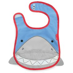 Skip Hop Zoo Bibs tuck-away bibs - Shark