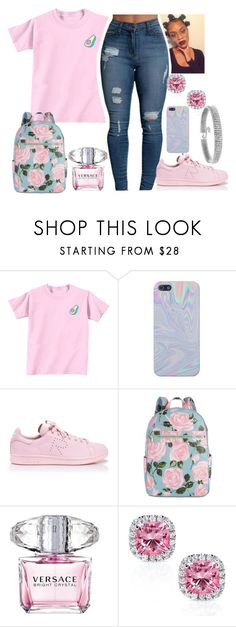 """hi woe"" by issaxking on Polyvore featuring adidas, ban.do, Versace, Kobelli and Bling Jewelry"