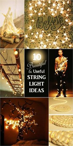 10 Beautiful and useful upcycled string light ideas for the home and garden. And yes, Ryan counts.