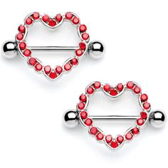 Dynamique Multi Heart Link 316L Surgical Steel Nipple Shield Sold Per Pair or Per Piece