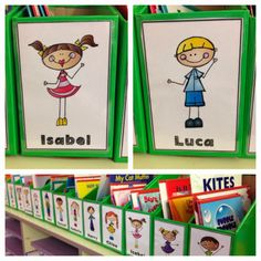 Personalised book boxes. :) Love, Laughter and Learning in Prep!