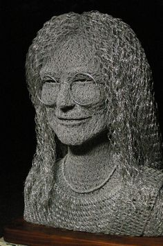 Chicken Wire Portraits by Ivan Lovatt