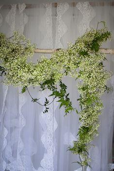 Gypsophila garland. Wedding.