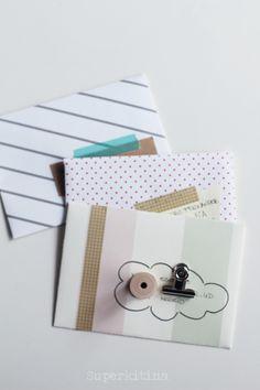 Superkitina snailmail cartas handmade snail mail envelope, stripes, pen pal
