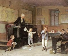 The School Room by Dargelas, Andre Henri - Wall Art Giclee Print or Canvas