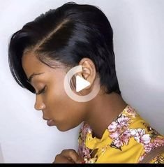 Boycut style lace frontal wig|Brazilian Hair Wig|Wig Extensions|African American #simplehairstyles Quick Weave Hairstyles, Popular Short Hairstyles, Black Women Hairstyles, Summer Hairstyles, Cute Hairstyles, New Hairstyle Video, Short Cut Wigs, Brazilian Hair Wigs, New Hair Trends
