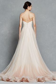 kelly faetanini bridal spring 2017 strapless sweetheart ball gown wedding dress (florence) bv pocket ombre blush color horsehair