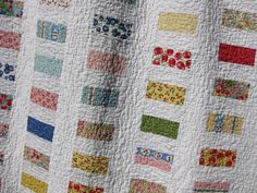 Modified Chinese Coin Quilt - half charm squares