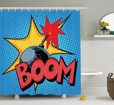 Hanson Boomerang Waterproof Pabric Custom Shower Curtains 60x72