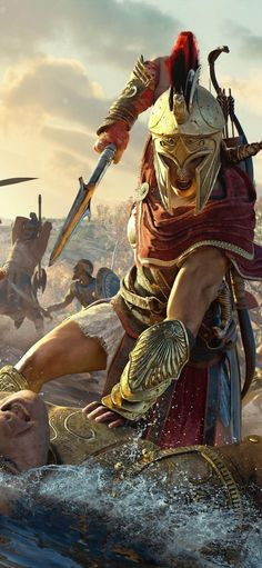 PlayStation® 4 Console Kassandra Assassins Creed Odyssey so cool. - - Ideas of - Kassandra Assassins Creed Odyssey so cool. The Assassin, Arte Assassins Creed, Assassins Creed Odyssey, Assassins Creed Origins, Assassins Creed Tattoo, Greek Warrior, Fantasy Warrior, Fantasy Art, Assassin's Creed Wallpaper