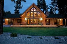 Chester, CA (#11026) | Real Log Homes since 1963 | Custom Log Homes | Log Home Floor Plans | Log Cabin Kits. The deck style #LogHomePlans