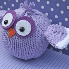 Create Amelia Bird tonight with your scrap yarn and this pattern... it's simple knitting in the round and fast, fast! $4.75