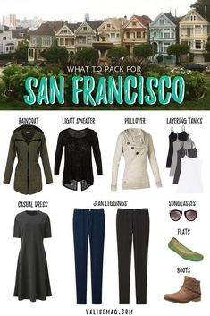 Unsure what to pack for San Francisco? It can be tough since the weather changes so much! Here is my perfect packing list for a trip to SF. via @valerievalise/