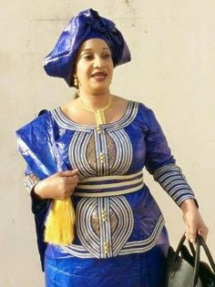 Embroidered Bazin Malian fashion
