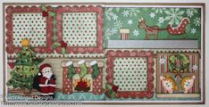 Night Before Christmas 12″x12″ Double Page Scrapbook Layout