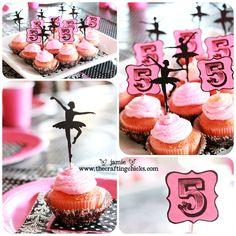 Pink & Black Ballerina Party- how cute!   @Kasey Darlene