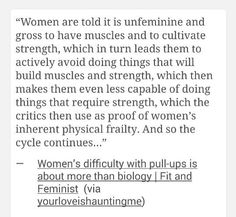 Women and muscles. #feminism<<This is exactly what I'm trying to say!!!