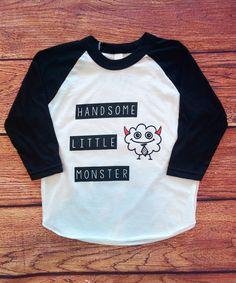 Handsome Little Monster Raglan Tee (Toddler)