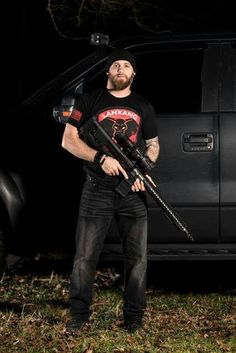 Brantley looking bad ass with a gun