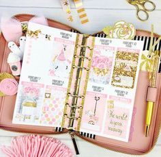 Cute Planner, Planner Pages, Planner Stickers, Diary Planner, Planner Ideas, Kikki K, Cool School Supplies, Planner Supplies, Planner Decorating