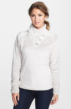 The North Face 'Mossbud' Snap Neck Pullover (Nordstrom Exclusive)   Nordstrom