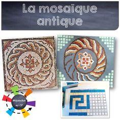 Des ateliers simples pour imiter les mosaïques antiques, attention patience de rigueur - Mitsouko au CP