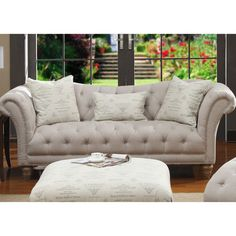 Emerald Home Hutton Sofa - You'll fall in love with the classic beauty and elegance of the Emerald Home Hutton Sofa . Featuring a strong and durable wood frame covered in...