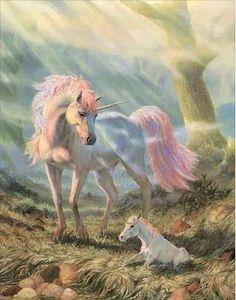 Unicorn and and baby unicorn. 🦄 👶 🦄 Unicorn and and baby unicorn. Unicorn And Fairies, Unicorn Fantasy, Real Unicorn, The Last Unicorn, Unicorns And Mermaids, Unicorn Horse, Unicorn Art, Magical Unicorn, White Unicorn