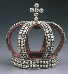 Nuptial Diamond Crown. worn by Princess Alexandra of Hesse at her wedding ceremony with Tsar Nicholas II in 1894