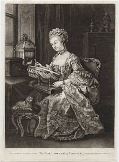 *The Fair Lady working Tambour, 1764*